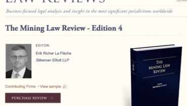 The Mining Law Review – 4ª Edição