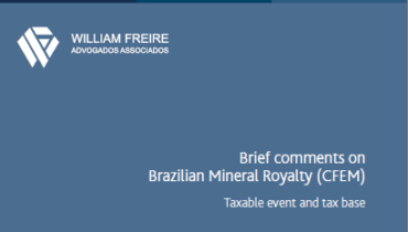 Brief comments on Brazilian Mineral Royalty (CFEM)